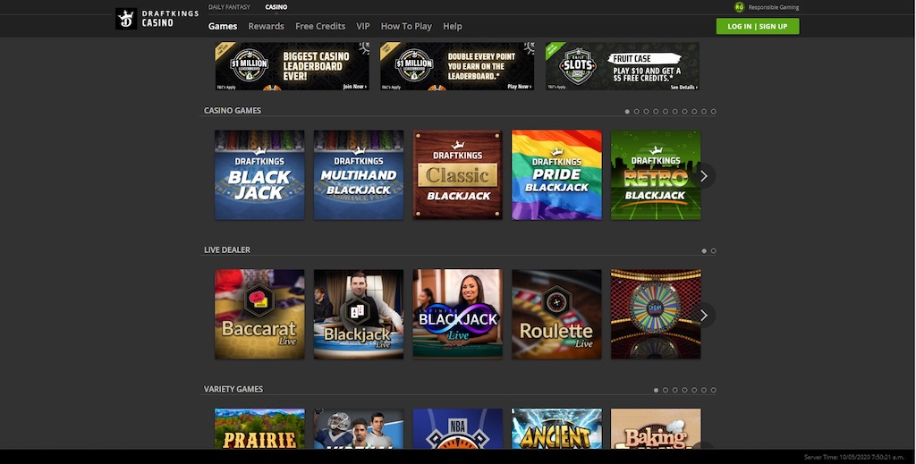 DraftKings Casino Games