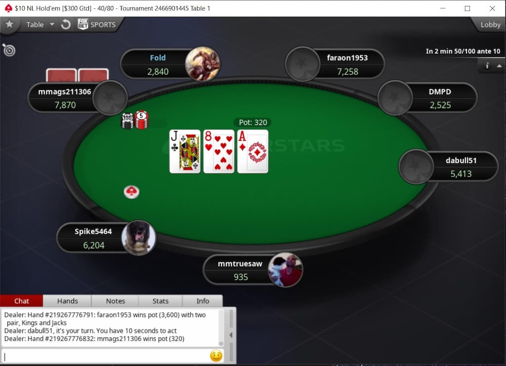 PokerStars Michigan Poker Table